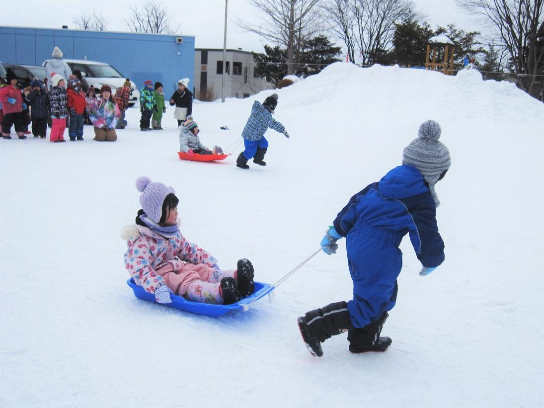 雪中ゲーム大会